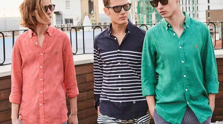 Camisas casual para el verano, de algodón fino, El Ganso.