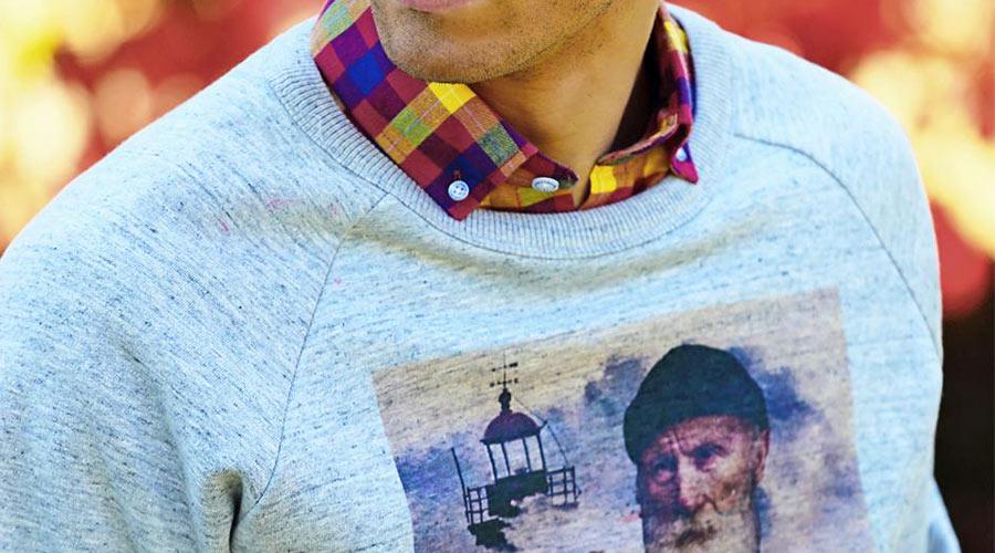 Camisa de cuadros en llamativos colores, de Altona Dock.