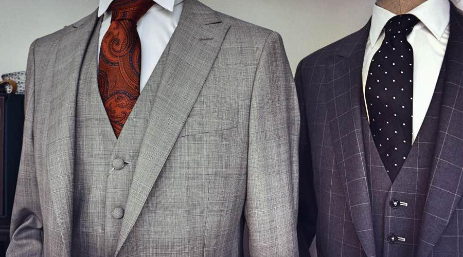 Trajes de chaqueta, chaleco y pantalón, para caballero, de Lebrel Misura.