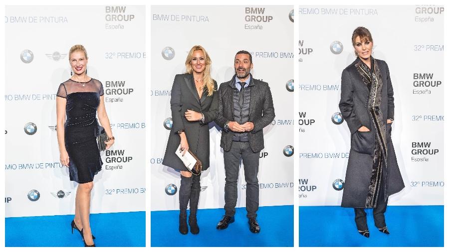 Algunos de los invitados de la 32º Premio de pintura BMW.
